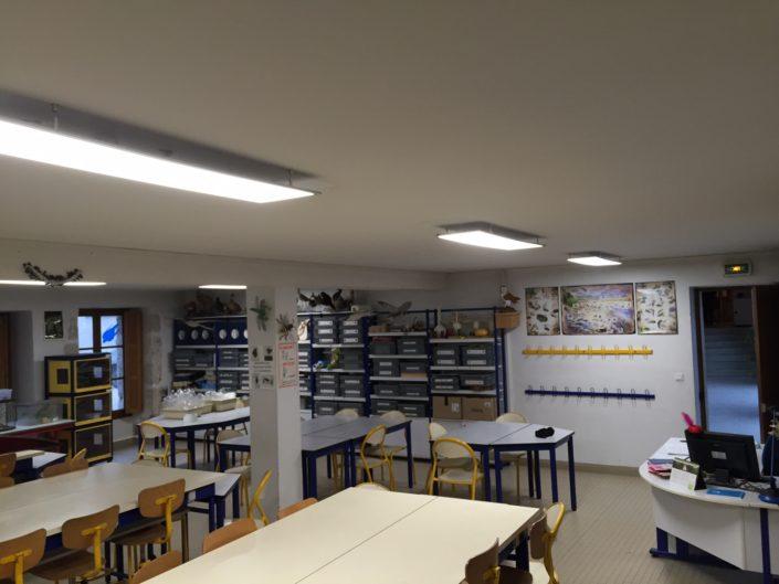 Salle de classe réalisée par CONNECTILED
